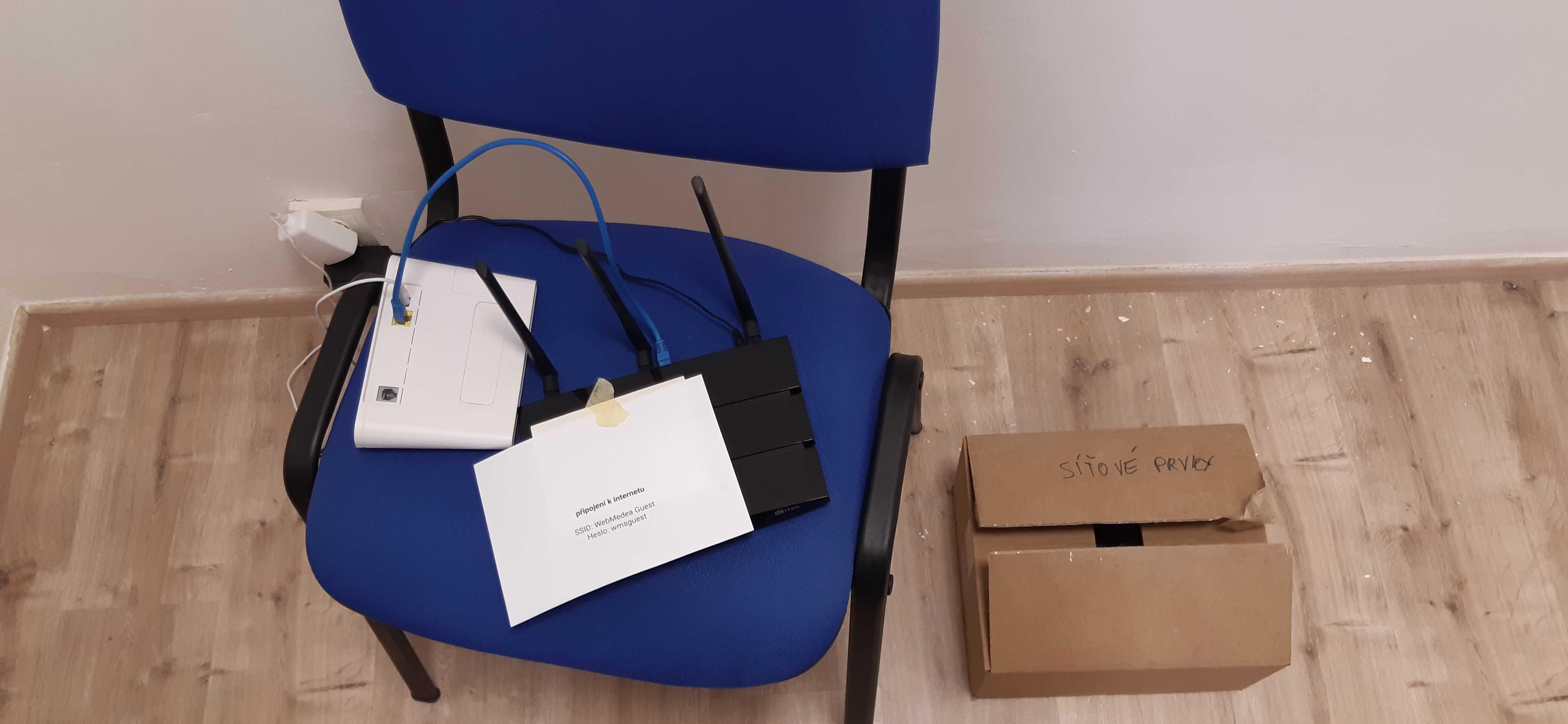 Provizorní připojení k internetu - fotka
